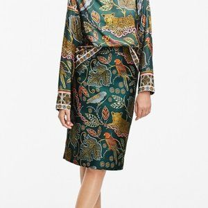J.Crew No. 2 Pencil skirt in ornate jungle print